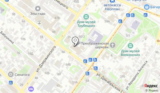 Мир лимузинов. Схема проезда в Иркутске
