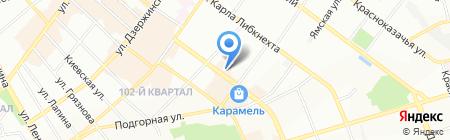 Горбуновъ на карте Иркутска