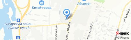 Лес Приморье на карте Иркутска