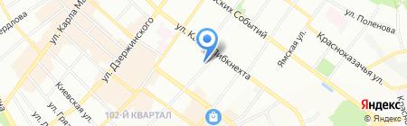 POLLAX на карте Иркутска