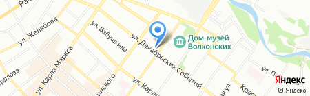В Темноте на карте Иркутска