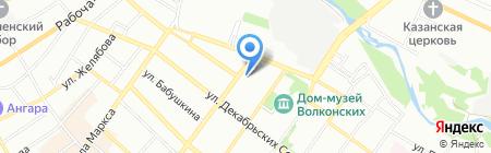 Дом и усадьба Трубецких на карте Иркутска