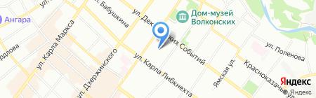 Детский сад №151 на карте Иркутска