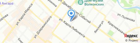 Керама на карте Иркутска