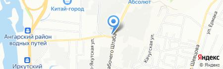 Ворота Центр на карте Иркутска
