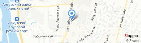 Север на карте Иркутска
