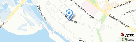 Родные берега на карте Иркутска