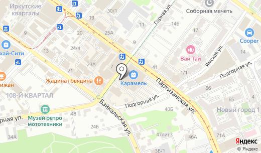Банкомат Сбербанк России. Схема проезда в Иркутске