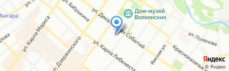 Фотообои на карте Иркутска