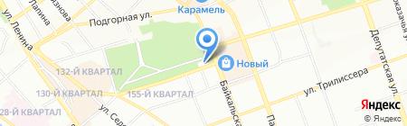 Аистенок на карте Иркутска