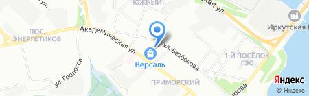Сарма на карте Иркутска