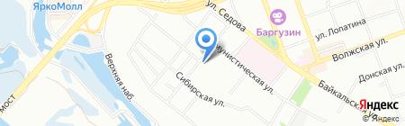 Дельта на карте Иркутска