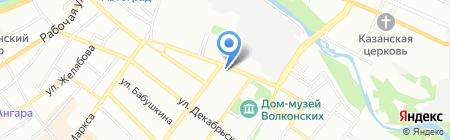 Старт Плюс на карте Иркутска