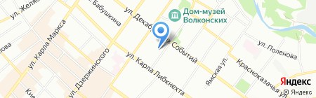 Лавр на карте Иркутска