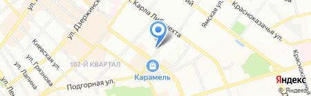 Автомобилист на карте Иркутска