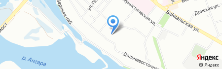 Дзамбала на карте Иркутска