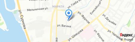 Иркутский хлеб на карте Иркутска