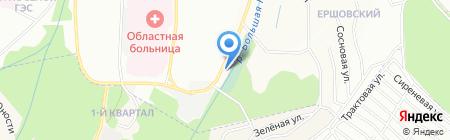 ДАОР на карте Иркутска