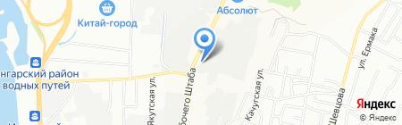 Город стекла на карте Иркутска