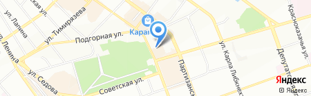 Октябрьское на карте Иркутска
