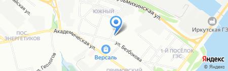 Капитель на карте Иркутска