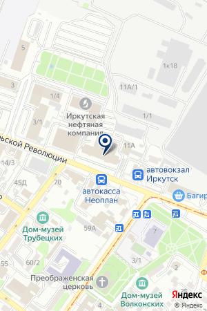 БАЙКАЛ РОСБАНК на карте Иркутска