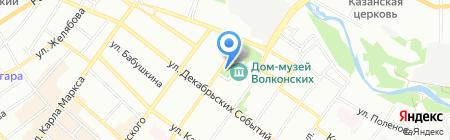 Храм Преображения Господня на карте Иркутска