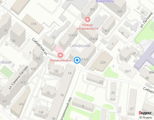 Товарищество собственников недвижимости «ТСЖ ЖК Сибирский» на карте Иркутска