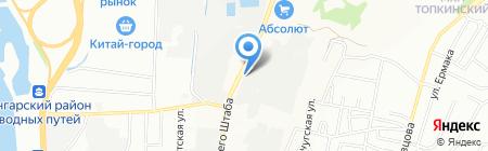 Упакторг на карте Иркутска
