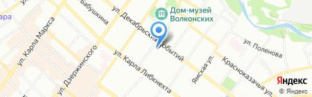 Империя Стекла на карте Иркутска