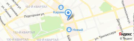Унисон на карте Иркутска