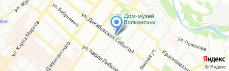 Информационно-туристская служба г. Иркутска на карте Иркутска