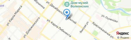 Байкальский купец на карте Иркутска