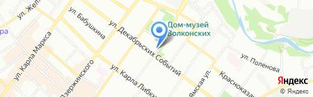 Дом Европы на карте Иркутска