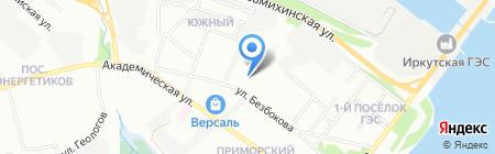 Приморский на карте Иркутска
