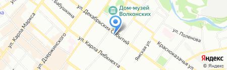 Мирра на карте Иркутска