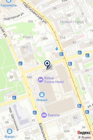 ДАЛЬНЕВОСТОЧНЫЙ БАНК на карте Иркутска