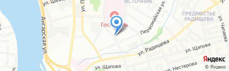 Алина на карте Иркутска
