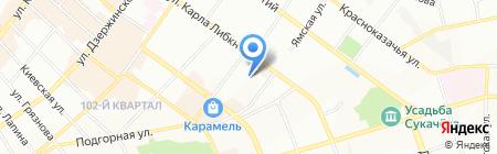 Алёнка на карте Иркутска