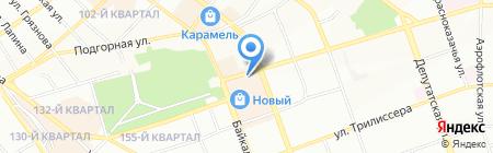 БурСиб на карте Иркутска