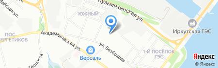 Восточно-Сибирский институт инженерно-строительных изысканий на карте Иркутска