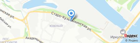 Развал Схождение на карте Иркутска