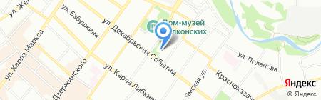 СибСвязь на карте Иркутска