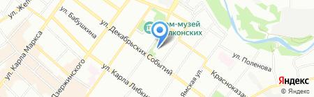 Банк Москвы на карте Иркутска
