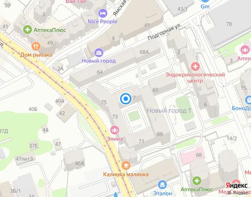 Товарищество собственников недвижимости «Новый Город» на карте Иркутска