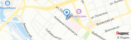 Визит на карте Иркутска