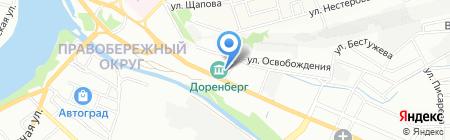 Диана на карте Иркутска