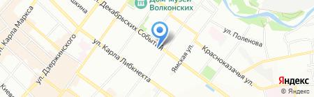 Ателье Меню на карте Иркутска