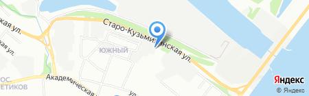 Газ-Уаз на карте Иркутска