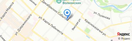 Дорожная служба Иркутской области на карте Иркутска